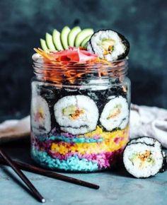 Regenbogen-Sushi