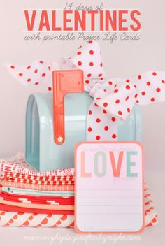 14 Days Of Valentines With Printable 3x4 Project Life Cards
