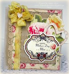 Happy Mother's Day card designed by Melissa Bove using Vintage Rose Medallions and Nested Oval Medallion Label