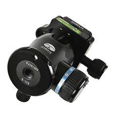 Sirui K-10X Stativkopf (Alu, inkl. Wechselplatte TY-50) schwarz Kugelkopf Schnellwechselplatte Lock für Stativ DSLR-Kamera - http://kameras-kaufen.de/sirui/k10x-sirui-k-20x-stativkopf-alu-inkl-ty-60-schwarz