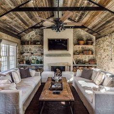 Design Living Room, Home Living Room, Living Room Decor, Rustic Living Rooms, Outdoor Living Rooms, Dining Room, Design Bedroom, Mediterranean Decor, Mediterranean Architecture