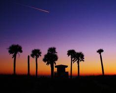 Shooting Star Sunset, Lido Beach, Sarasota Florida.