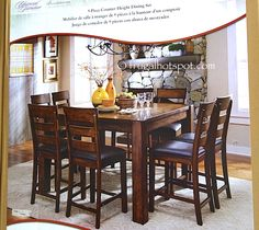broadmoore 9 piece counter height dining set costco frugalhotspot