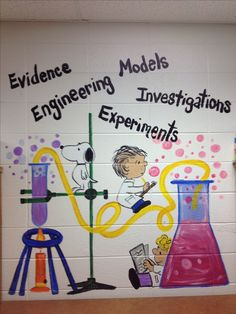 My painting for science classroom :-) - Bildung Science Room, Science Fair, Teaching Science, Science Education, Science Activities, Science Chemistry, Science Curriculum, Easy Science, Science Experiments