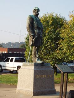 Collis P. Huntington statue  Huntington, West Virginia ♥ my hometown ♥