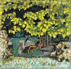 Femme Et Enfants Dans Un Jardin By Pierre Bonnard