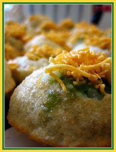 Pani Puri- Indian street food. Sinful, but delicious!!! PANI PURI!! dunya ki bawth achi khana