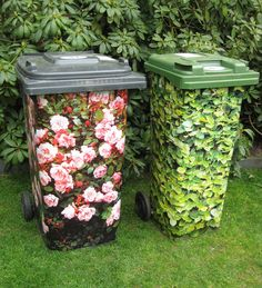See here 14 great ideas to hide garbage and recycling container in your garden! … See here 14 great ideas to hide garbage and recycling container in your garden! – Tips and Tricks – Tips and Crafts Hide Trash Cans, Outdoor Trash Cans, Garden Deco, Garden Art, Garden Design, Small Gardens, Outdoor Gardens, Backyard Lighting, Pallets Garden