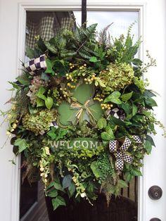SALE wreath Sale door wreath St Patrick by adoorableflorals, $159.99