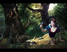 One of my favorite Annie Leibovitz photos of all time. Rachel Weisz as Snow White for a Disney campaign done by ad agency McGarry-Bowen.