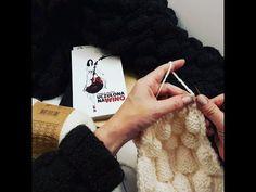 Wzór bąbelkowy (MALINY) - tutorial. Knitting Academy by La Gosh My Passion. - YouTube