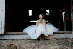 Intrikate Designs: turquoise layers are a perfect match for the frye boots and Monique Lhuillier for a rustic wedding