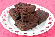 Healthy Raspberry Truffle Brownies
