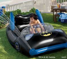 Pottery Barn Kids Batman Pool.  SO COOL!