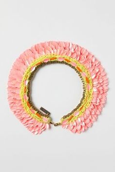 Printemps Sequin Collar  Anthropologie beauty and colour @£60