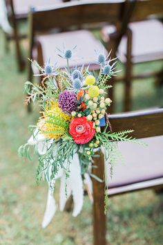 ceremony chair decor - photo by Flora and Fauna http://ruffledblog.com/historic-cree-estate-wedding