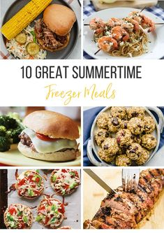 10 home run freezer meal ideas for the summer. This roundup of freezer meals will help you spend less time in the kitchen and more time at the pool! #freezermeals #makeaheadmeals #freezercooking #freezerfriendly Meal Recipes, Real Food Recipes, Healthy Recipes, Healthy Meals To Cook, Make Ahead Meals, Freezer Cooking, Freezer Meals, In Season Produce, Salmon Burgers