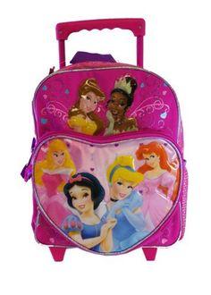 Disney Princess Small Rolling BackPack – Princesses « Clothing Impulse