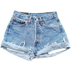 Original 501s [W32] ($84) ❤ liked on Polyvore featuring shorts, bottoms, short, denim shorts, vintage high waisted shorts, cut-off jean shorts, jean shorts, short jean shorts and high-waisted cut-off shorts