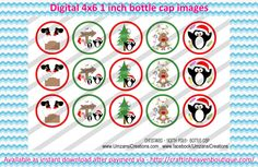 """1"""" Bottle Caps christmas north pole bottle caps Christmas bottle cap images #Christmas #xmas #bottlecap #BCI #shrinkydinkimages #bowcenters #hairbows #bowmaking #ironon #printables #printyourself #digitaltransfer #doityourself #transfer #ribbongraphics #ribbon #shirtprint #tshirt #digitalart #diy #digital #graphicdesign please purchase via link  http://craftinheavenboutique.com/index.php?main_page=index&cPath=323_533_42_56"""