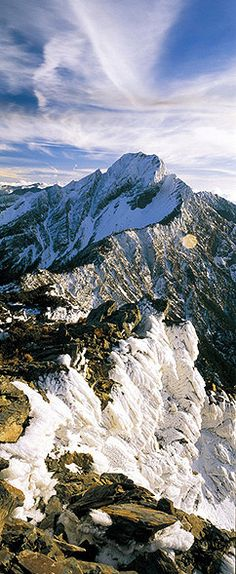 Pristine snow covers the majestic Northern Peak of Yushan, also known as Jade Mountain. #Taiwan #Nature