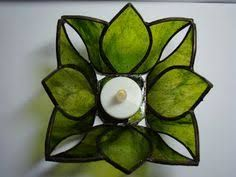 Resultado de imagen para stained glass candle holder