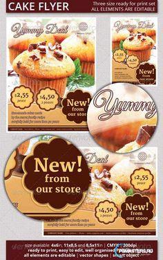 GraphicRiver Cake Flyer Set