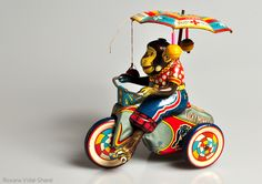 Vintage Lucky Monkey tricycle tin toy | Flickr - Photo Sharing!