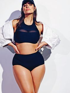 Plus-Size Model Ashley Graham Poses in a Sheer, Black Bikini: Photo - Us Weekly Curvy Fashion, Plus Size Fashion, Fashion Models, Looks Plus Size, Plus Size Model, Curvy Models, Female Models, Women Models, Img Models