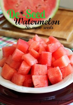 Spindles Designs by Mary & Mags: De-Seed Watermelon - No More Seeds