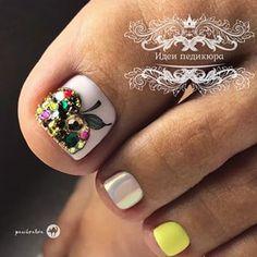 Ольга (@panibratova) • Instagram photos and videos Pedicure Nail Designs, Pedicure Colors, Pedicure Nail Art, Toe Nail Designs, Gel Nail, Toe Nail Color, Toe Nail Art, Nail Colors, Pretty Toe Nails