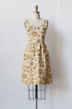 vintage 1960s cream gold brocade dress [Clouet Brocade Dress] - $128.00 : ADORED | VINTAGE, Vintage Clothing Online Store