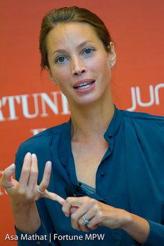 Christy Turlington Burns, founder of Every Mother Counts; childbirth advocate