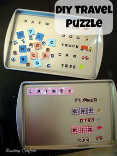 DIY Travel Puzzle - great for road trips!