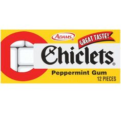 Chiclets Peppermint Gum - 12pc by Cadbury Adams Candy in Retro & Nostalgic Candy | Pre 1920's Candy, 1950's Candy at Hometown Favorites Retro and Nostalgic Candy - Hometown Favorites