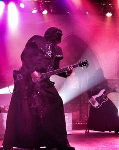 Omega and Bass Ghoul of the band Ghost