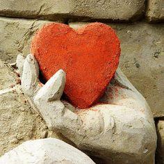 "Hand holding an orange heart: For Kamren! Love ya, ""D"" Gram a Heart In Nature, All Heart, Eat Your Heart Out, Heart Hands, I Love Heart, Happy Heart, Heart Art, Sand Sculptures, Heart Images"