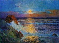 Ferdinand du Puigaudeau (France 1864-1930)Coucher de soleil sur la mer (1925)oil on canvas 60 x 81 cm