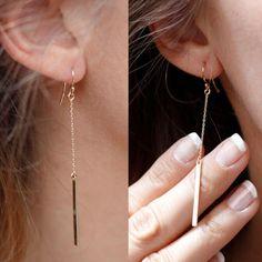 Gorgeous-Vintage-Gold-Color-Long-Pendant-Chain-Earrings