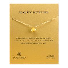 happy future origami crane bracelet #dogeared
