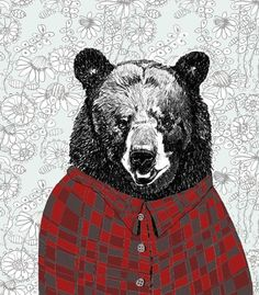 Bears Love Flannel Shirts With Wallpaper by corelladesign on Etsy, $20.00