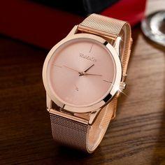 505fb9e093b8 New Fashion Female Clocks Women Luxury Quartz Watch rose gold Stainless  Steel dress Watches montre femme