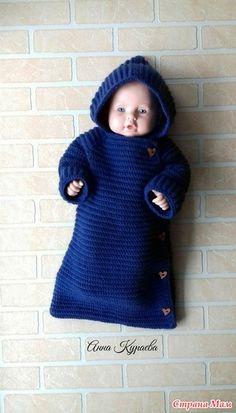 . Детский конверт - Вязание - Страна Мам Quick Crochet, Crochet Baby, Jar Crafts, Baby Knitting Patterns, Baby Dress, Fancy, Hats, Sweaters, Handmade