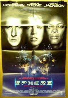 Movie Poster Sphere Dustin Hoffman Sharon Stone Samuel L. Jackson 3