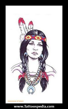 tattoos for women a beautiful pic of an american indian woman | ... %20Designs%20For%20Girls%201 Native American Tattoo Designs For Girls