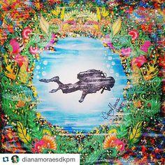 Instagram media desenhoscolorir - @dianamoraesdkpm arrasoooou! ・・・#lostocean #oceanoperdido  #johannabasford  #desenhoscolorir  Mergulhando entre os Corais Tutorial no meu canal do YouTube: Diana Moraes.  Tutorial on my YouTube channel: Diana Moraes
