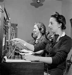 switchboard operators~ I learned to operate one at my high school.