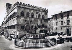 Perugia - Cartolina spedita nel 1957
