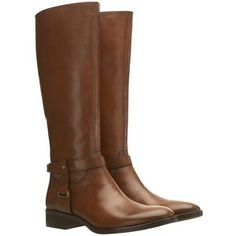 Mint Velvet Leather Ankle Strap Riding Boots, Brown