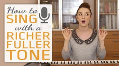 How to sing with a richer fuller tone - Singing Exercises Vocal Lessons, Singing Lessons, Singing Tips, Music Lessons, Guitar Lessons, Singing Exercises, Vocal Exercises, Traveling Alone Women, Singing Techniques
